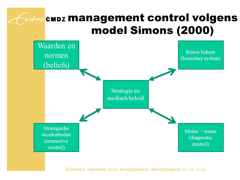 management control volgens model Simons (2000)