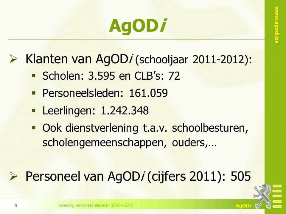 opleiding schoolsecretariaten 2012 – 2013