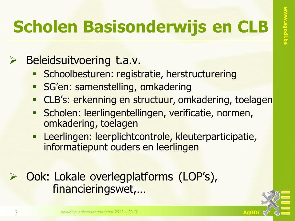 Scholen Basisonderwijs en CLB