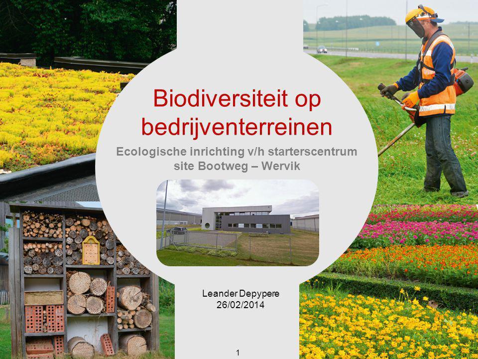 Ecologische inrichting v/h starterscentrum site Bootweg – Wervik