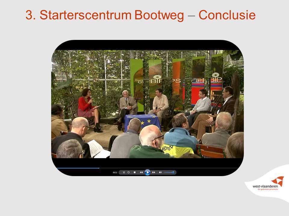 3. Starterscentrum Bootweg – Conclusie
