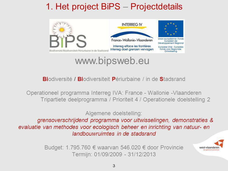 1. Het project BiPS – Projectdetails