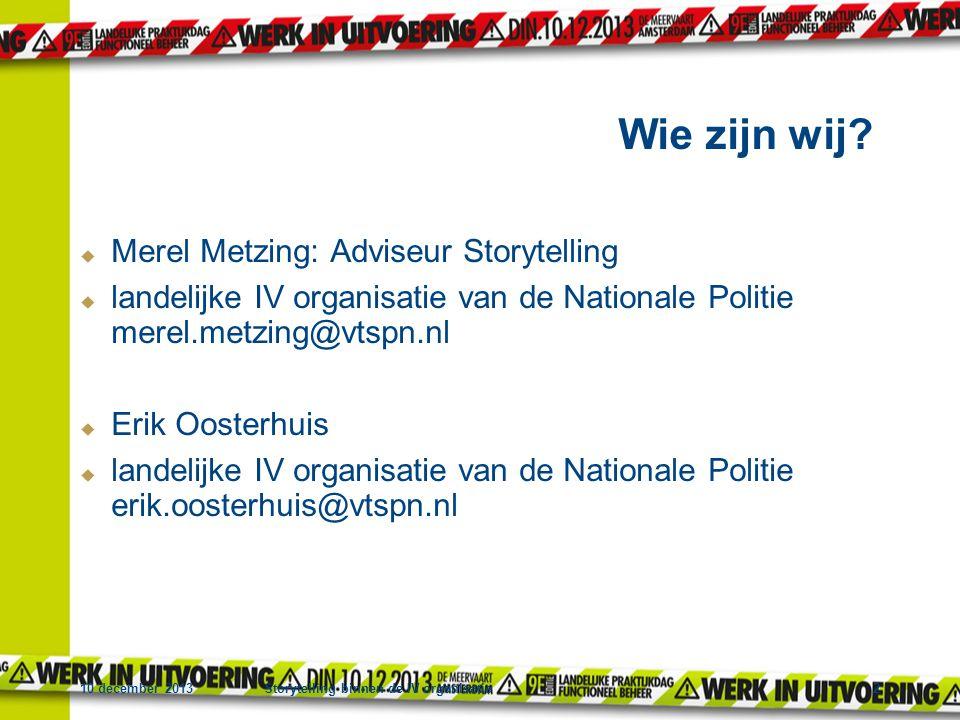 Wie zijn wij Merel Metzing: Adviseur Storytelling
