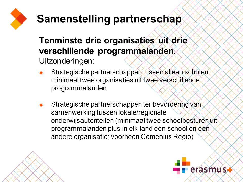 Samenstelling partnerschap