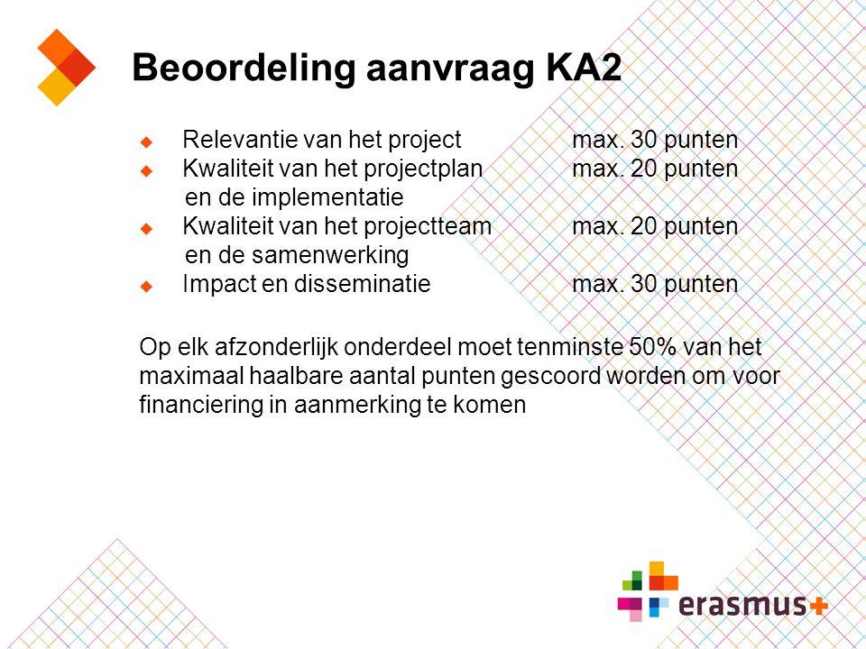 Beoordeling aanvraag KA2