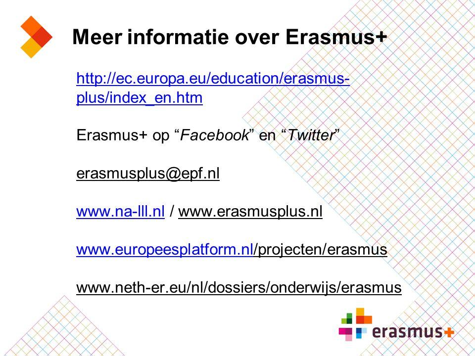 Meer informatie over Erasmus+