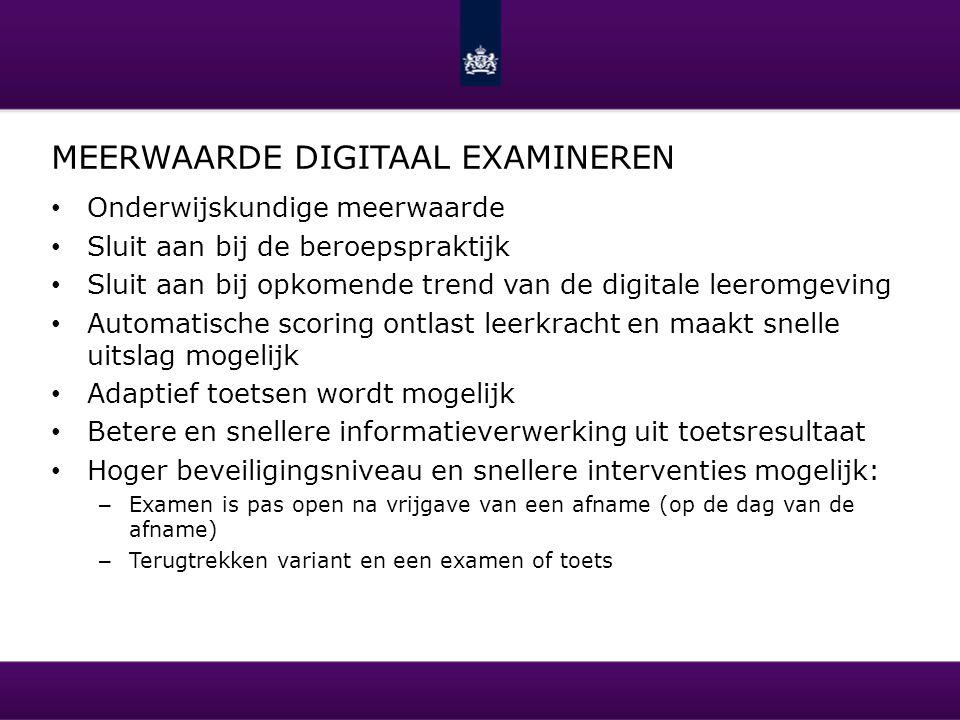 Meerwaarde digitaal examineren