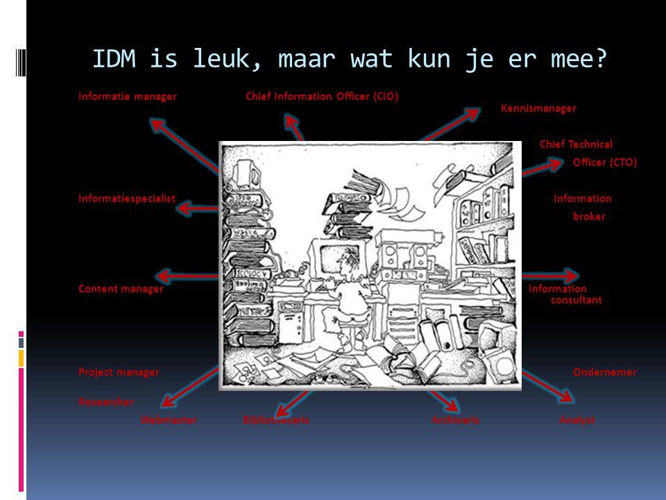 IDM is leuk, maar wat kun je er mee