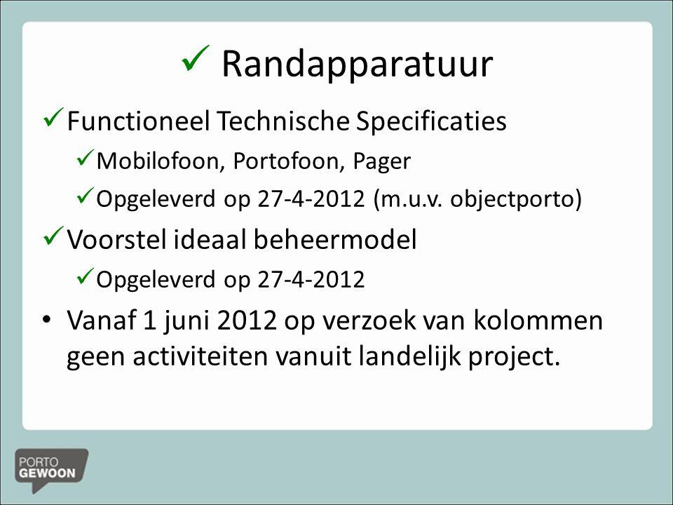 Randapparatuur Functioneel Technische Specificaties