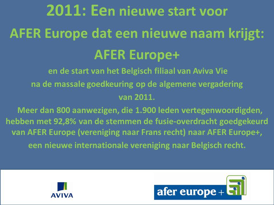 2011: Een nieuwe start voor AFER Europe dat een nieuwe naam krijgt: