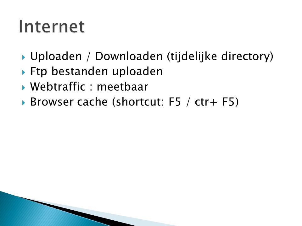 Internet Uploaden / Downloaden (tijdelijke directory)