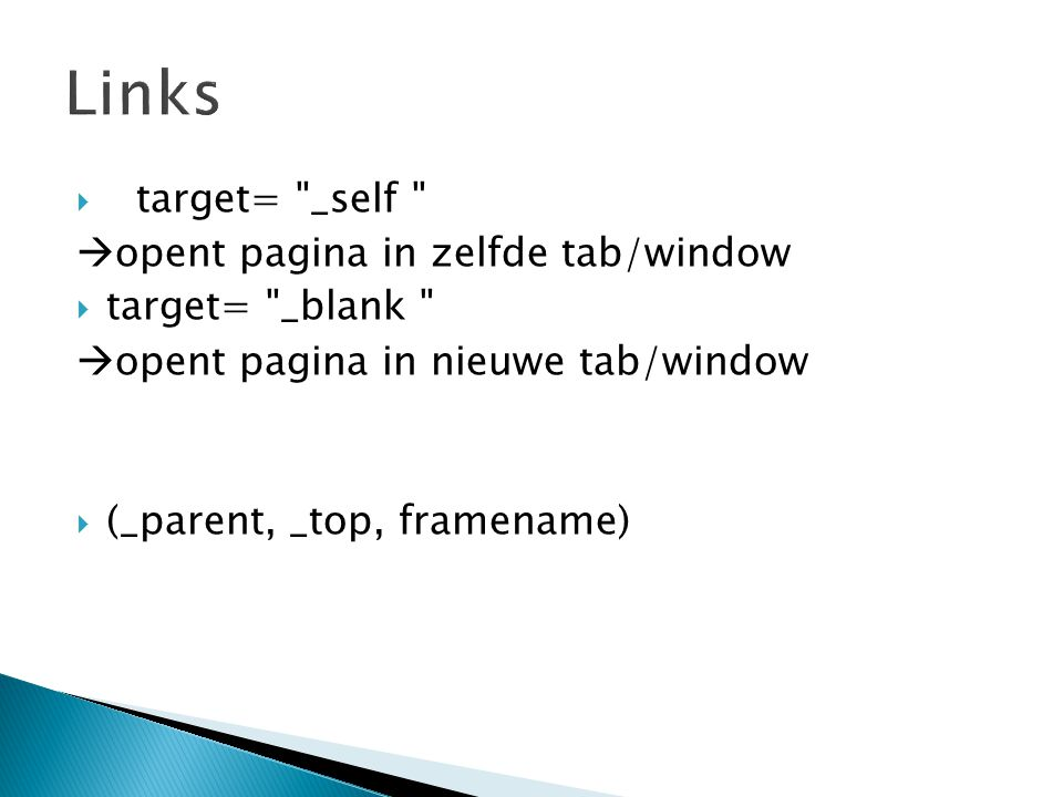 Links target= _self opent pagina in zelfde tab/window