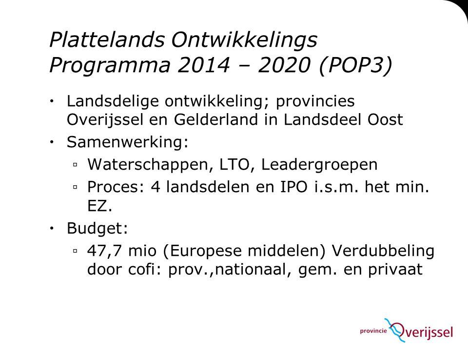 Plattelands Ontwikkelings Programma 2014 – 2020 (POP3)