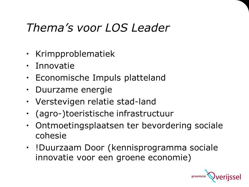 Thema's voor LOS Leader