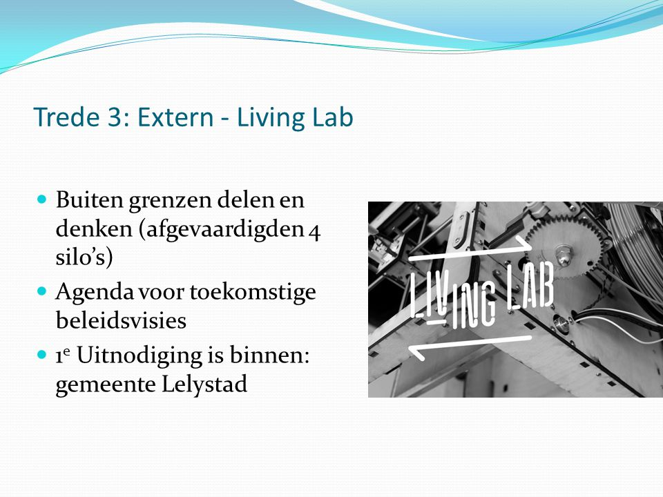 Trede 3: Extern - Living Lab