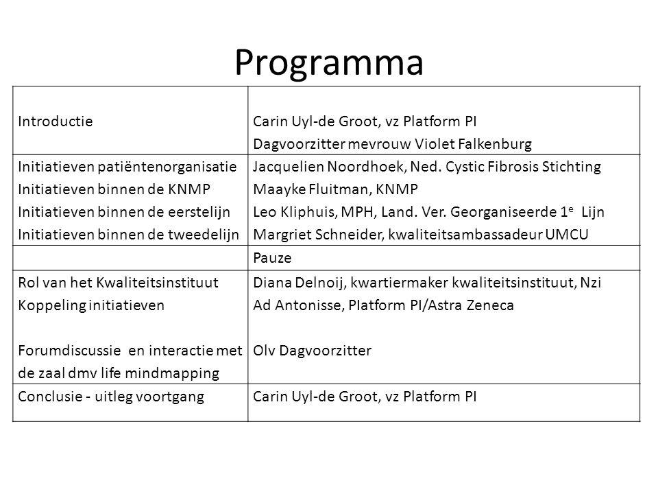 Programma Introductie Carin Uyl-de Groot, vz Platform PI