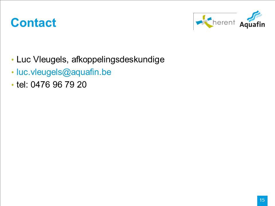 Contact Luc Vleugels, afkoppelingsdeskundige luc.vleugels@aquafin.be