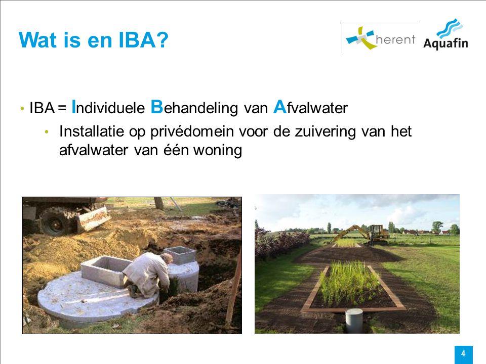 Wat is en IBA IBA = Individuele Behandeling van Afvalwater