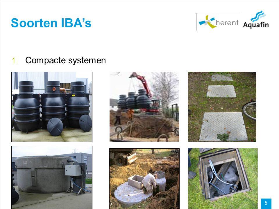Soorten IBA's Compacte systemen