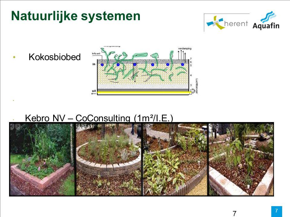 Natuurlijke systemen Kokosbiobed Kebro NV – CoConsulting (1m²/I.E.)