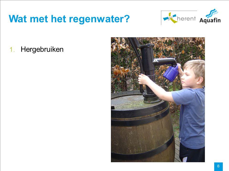Wat met het regenwater Hergebruiken
