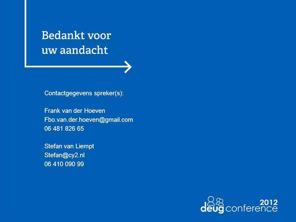 Contactgegevens spreker(s):