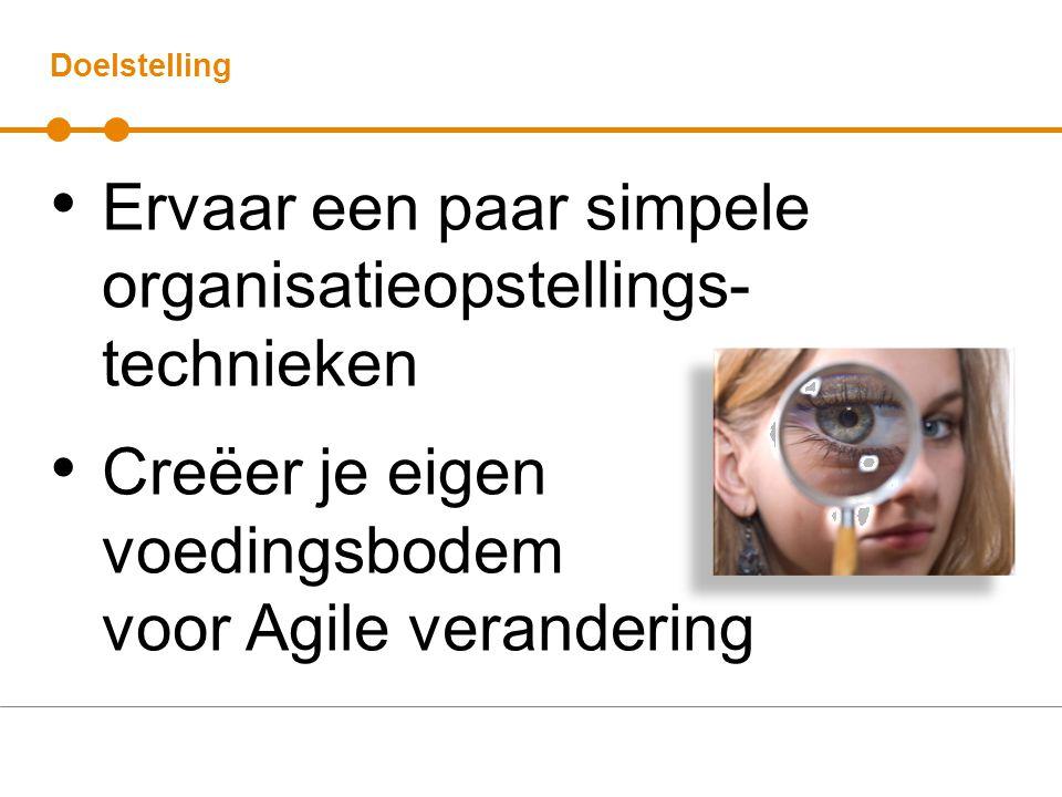 Ervaar een paar simpele organisatieopstellings-technieken