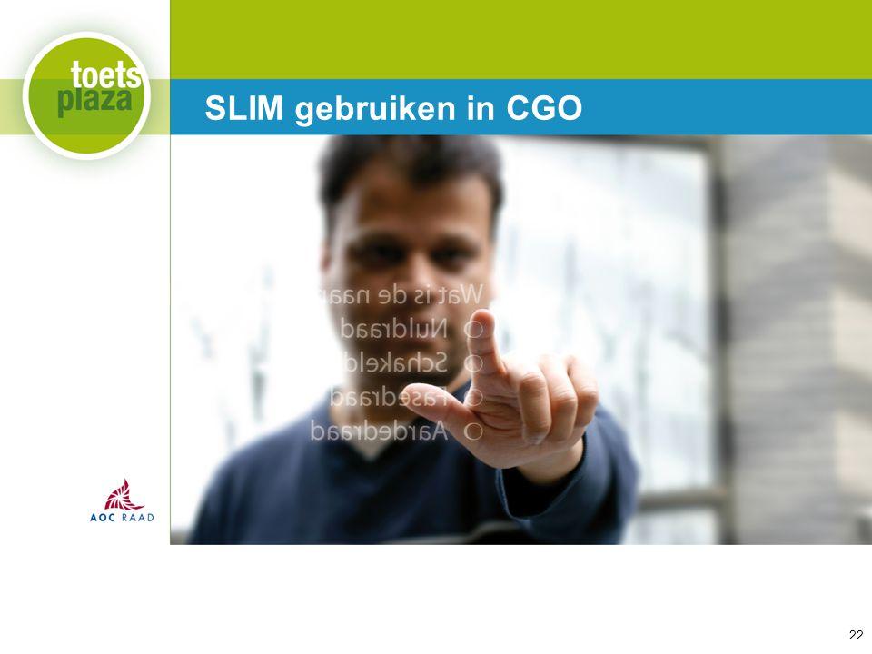 SLIM gebruiken in CGO