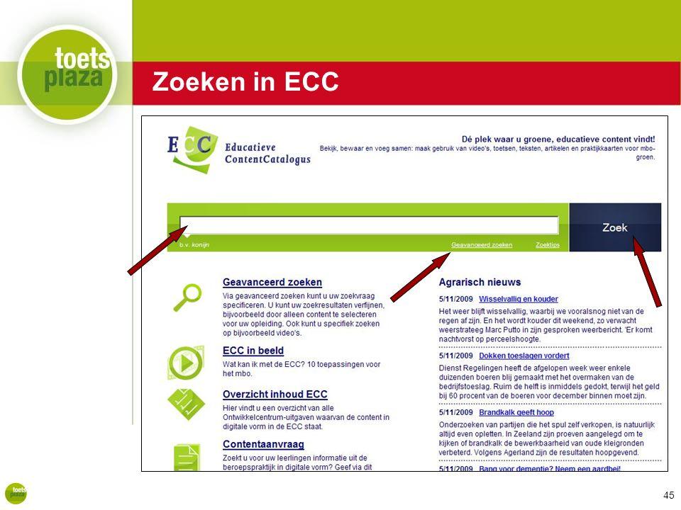 Zoeken in ECC