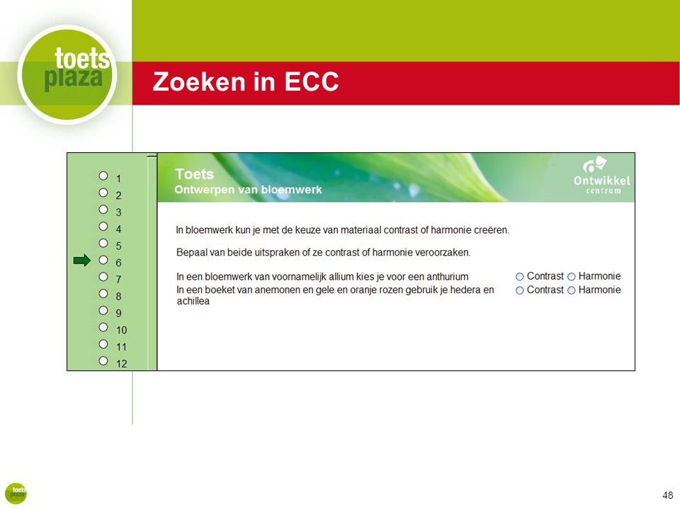 Zoeken in ECC Zoeken in ECC