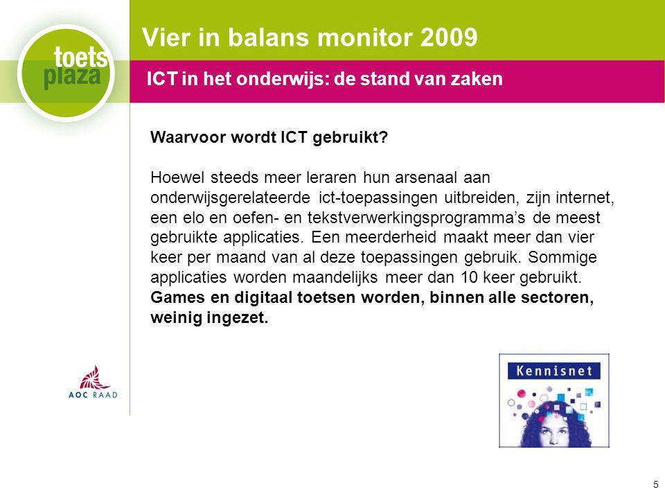 Vier in balans monitor 2009 ICT in het onderwijs: de stand van zaken