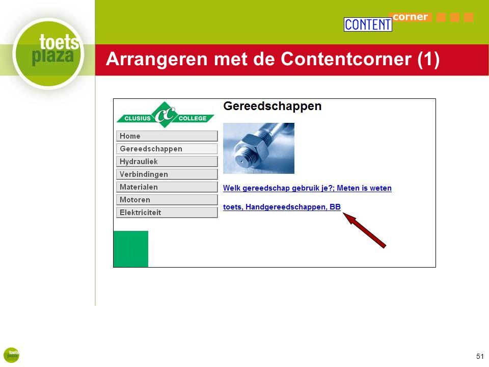 Arrangeren met de Contentcorner (1)