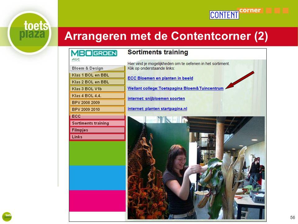 Arrangeren met de Contentcorner (2)