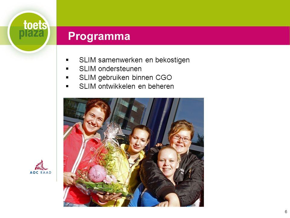 Programma SLIM samenwerken en bekostigen SLIM ondersteunen