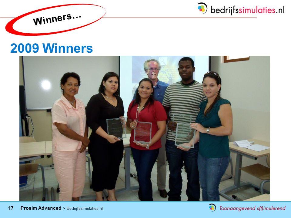Winners… 2009 Winners