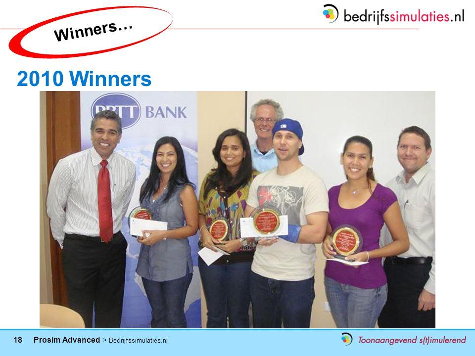 Winners… 2010 Winners