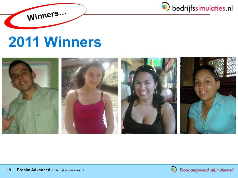 Winners… 2011 Winners
