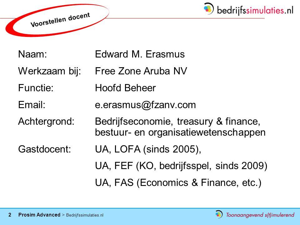 Werkzaam bij: Free Zone Aruba NV Functie: Hoofd Beheer