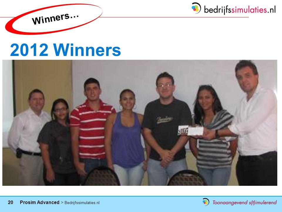 Winners… 2012 Winners