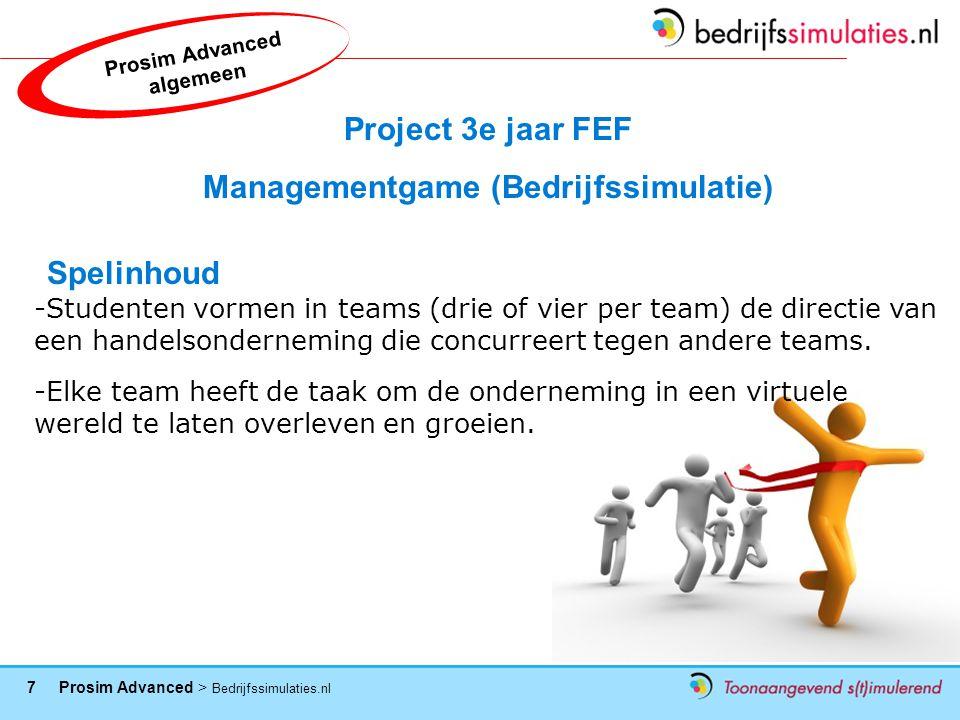 Prosim Advanced algemeen Managementgame (Bedrijfssimulatie)