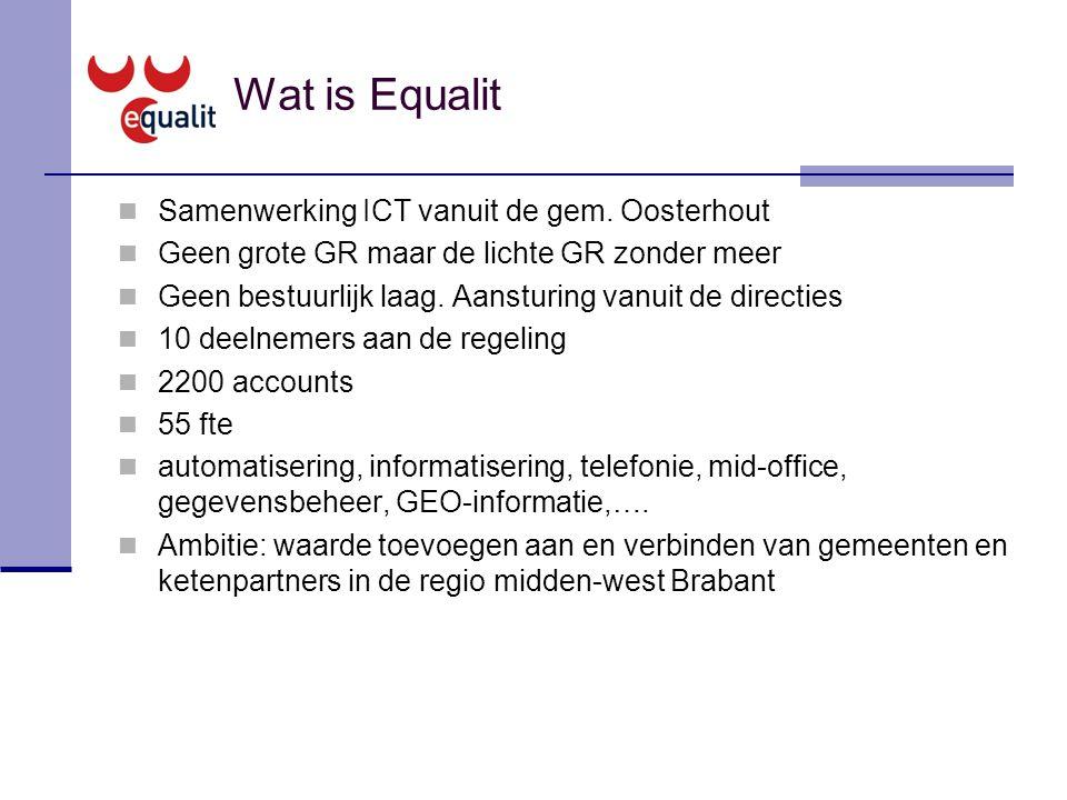 Wat is Equalit Samenwerking ICT vanuit de gem. Oosterhout