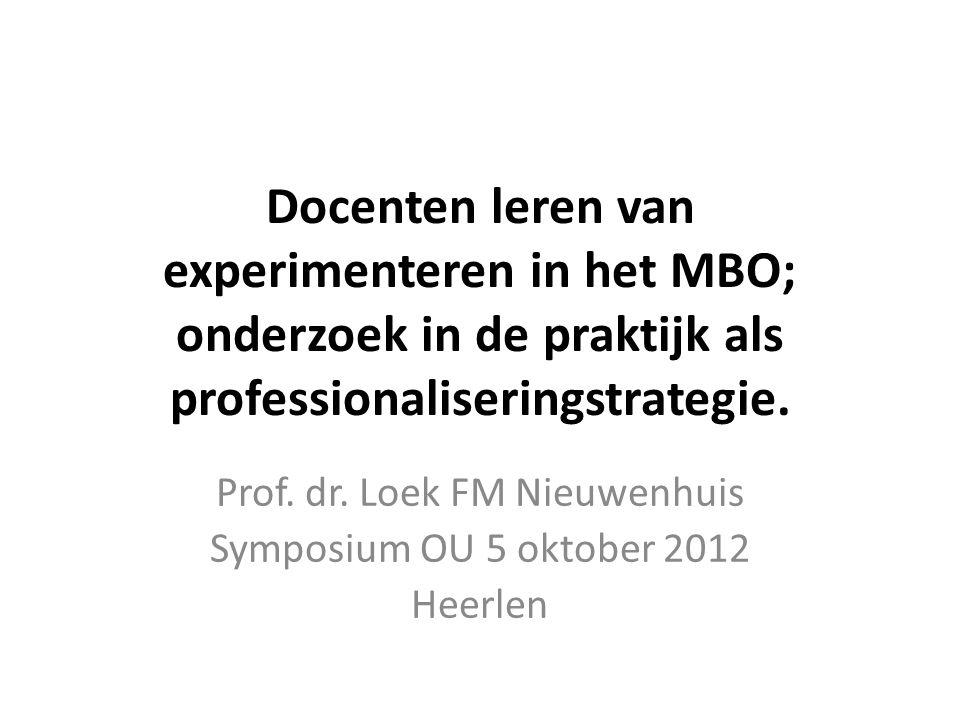 Prof. dr. Loek FM Nieuwenhuis Symposium OU 5 oktober 2012 Heerlen