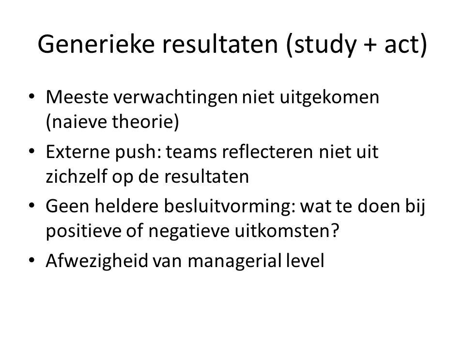 Generieke resultaten (study + act)