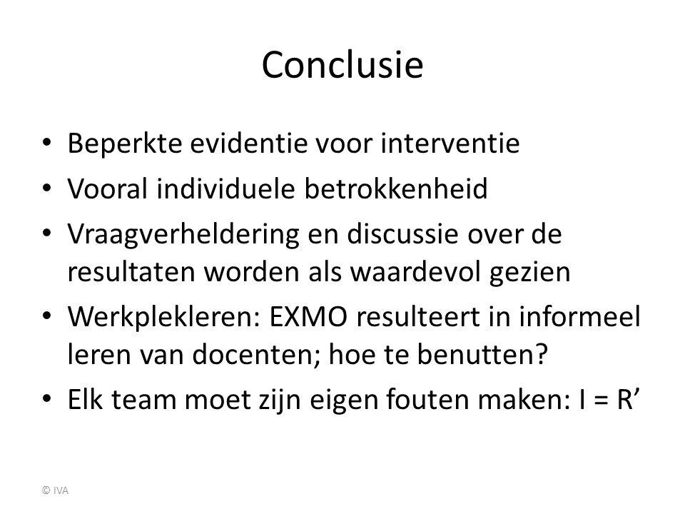 Conclusie Beperkte evidentie voor interventie