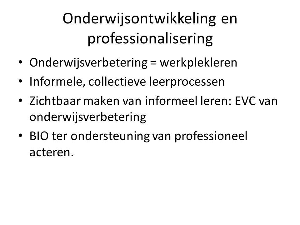Onderwijsontwikkeling en professionalisering