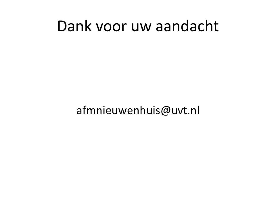 Dank voor uw aandacht afmnieuwenhuis@uvt.nl