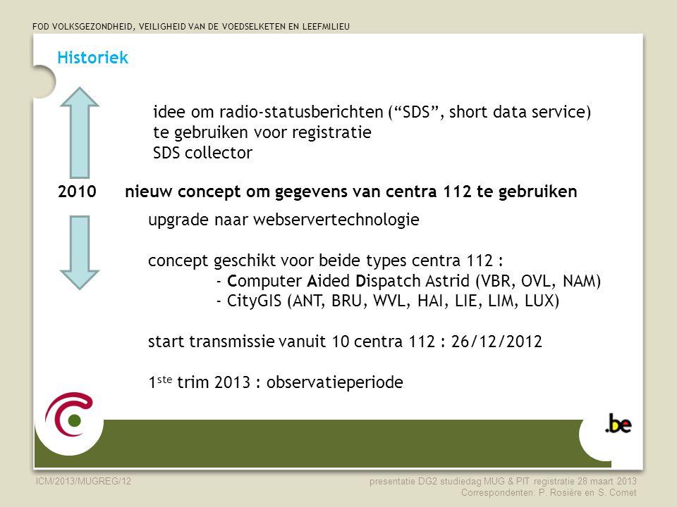 2010 nieuw concept om gegevens van centra 112 te gebruiken