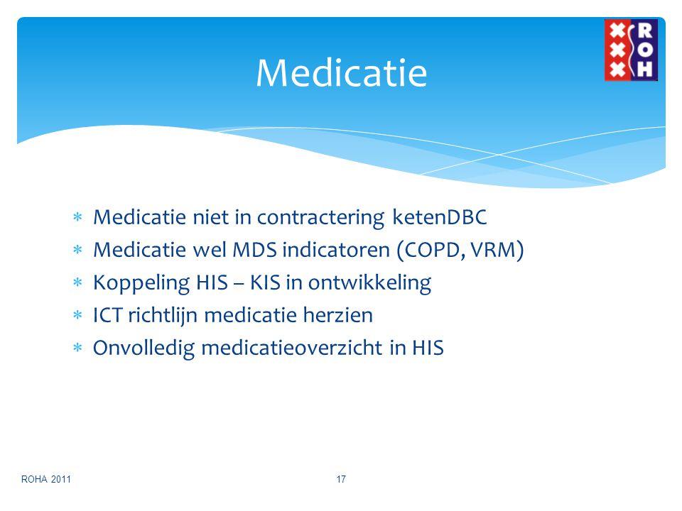 Medicatie Medicatie niet in contractering ketenDBC