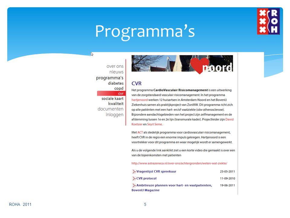 Programma's ROHA 2011