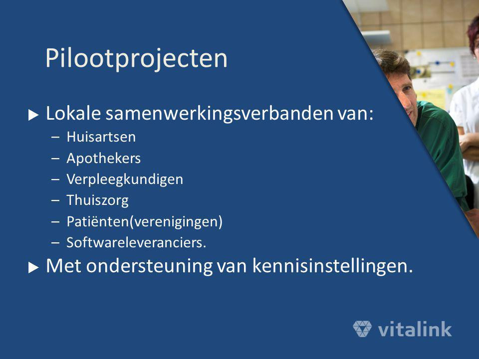 Pilootprojecten Lokale samenwerkingsverbanden van: